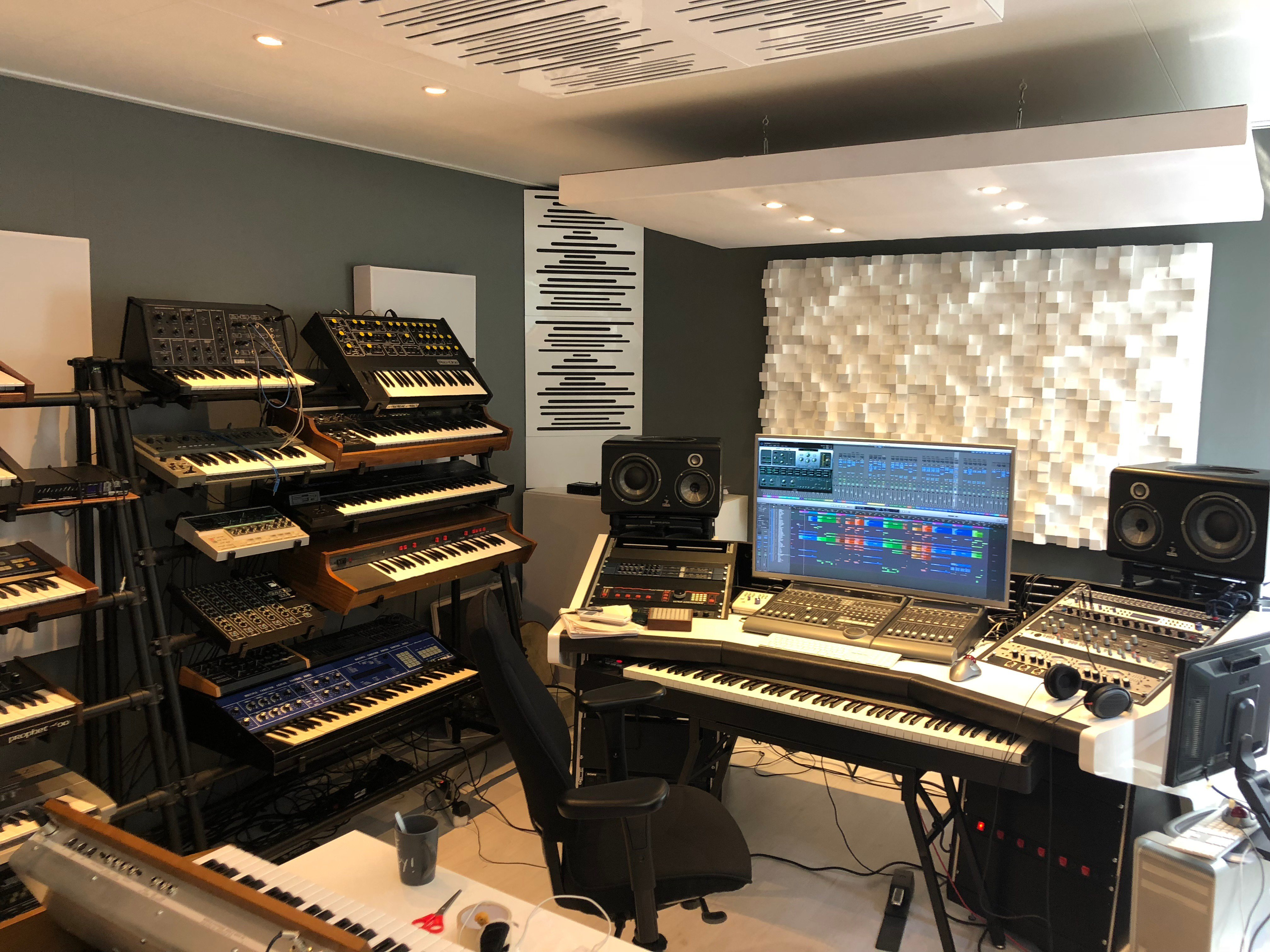 a music studio in Amsterdam