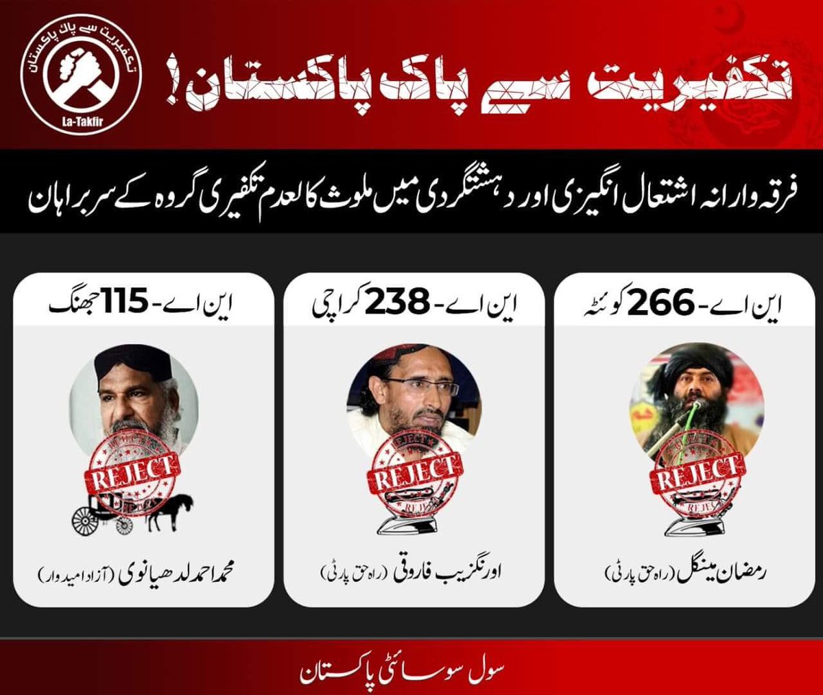 Vote For A Pakistan Free Of Takfirism And Religious Extremism Do Not These People Who Spread Hatred In The Name Religion