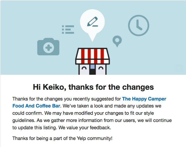 Yelp Support on Twitter: