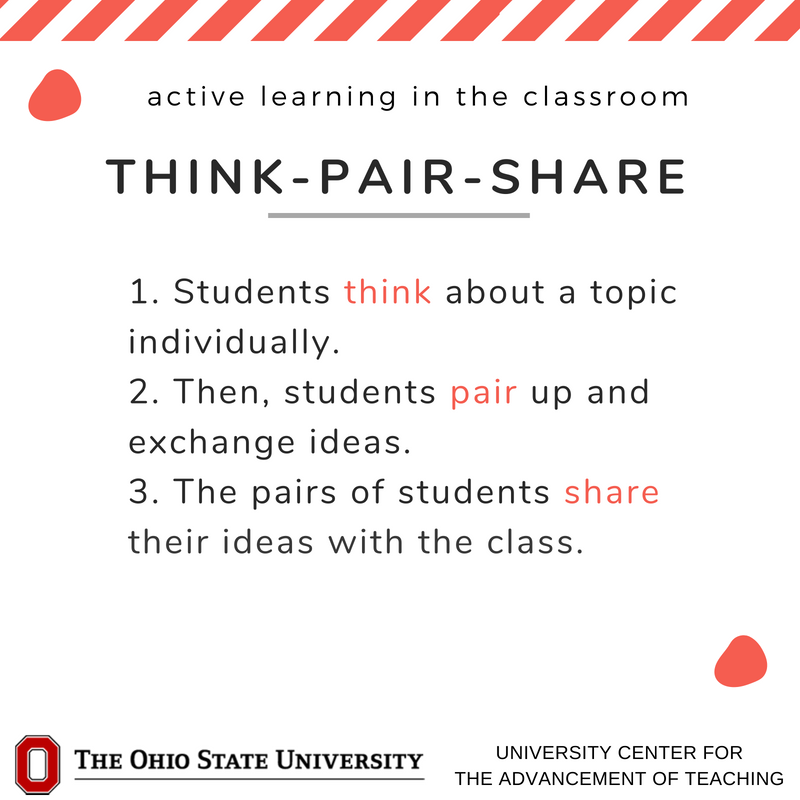 What active learning strategies do you use in class? Read about more strategies: https://t.co/3j0cIg8RMK