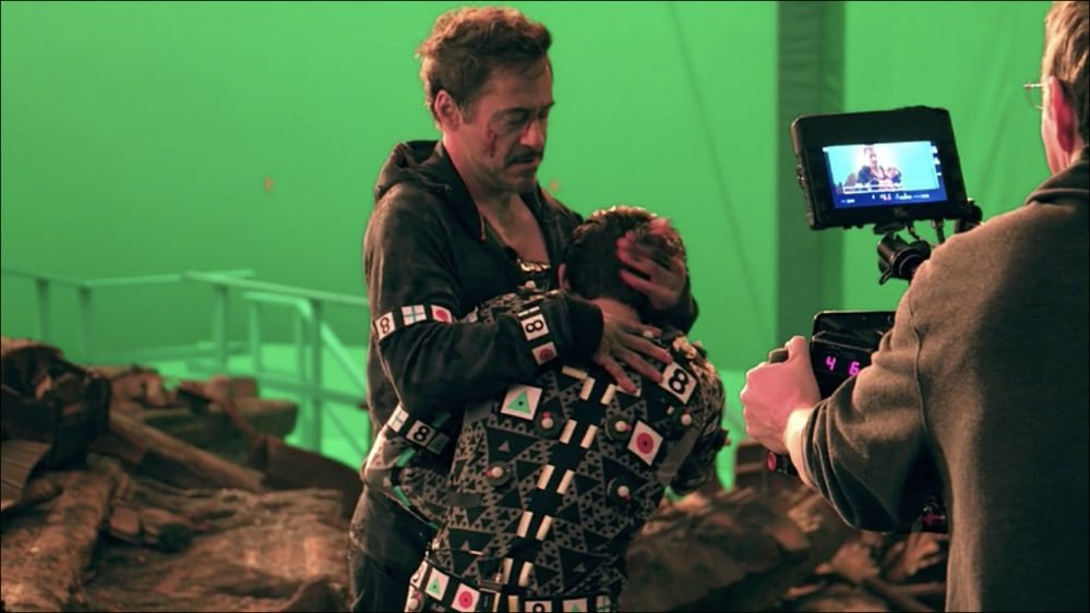 Robert Downey Jr and Tom Holland making of the most dramatic scenes of #InfinityWar