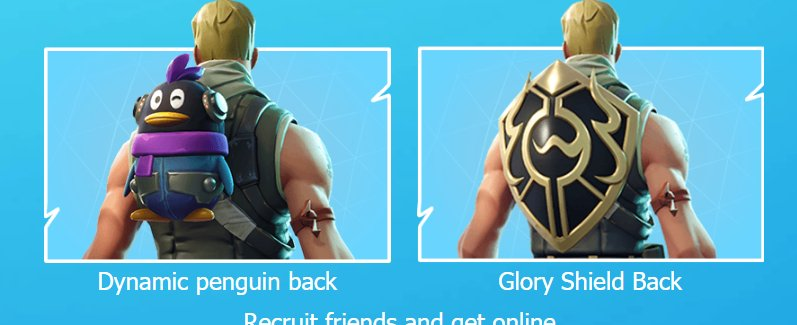 to claim those backblings you will have to invite a friend to fortnite china and then - chinese fortnite shield
