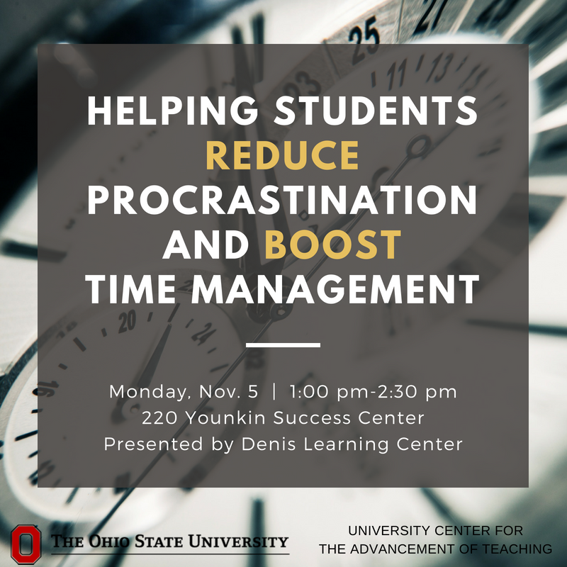 How might your course be different if students procrastinated less? In this session, you will gain a deeper grasp of the impact of last-minute studying as well as reasons underlying students' procrastination. https://t.co/69MrcQSlxk