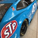 Our Petty-blue @TooToughToTame paint scheme. This was the FIRST STP paint scheme in #NASCAR. STP's president, Andy Granatelli, wanted all day-glo red. #TheKing wanted all blue. After he won in this design at Riverside, they compromised & the next race, 1972 Daytona 500, was both!