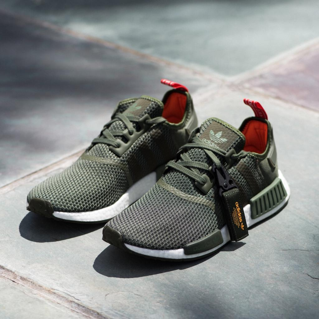 8c31222f25eee Champs Sports: . in the NMD_R1 | Get the olive or black colorways ...