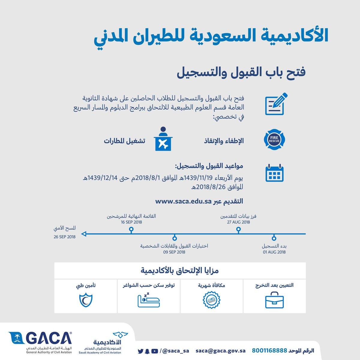 الأكاديمية السعودية للطيران المدني على تويتر شروط القبول والتسجيل لبرامج فني إطفاء وإنقاذ دبلوم تشغيل مطارات دبلوم مشغل أجهزة إنذار مسار سريع برنامج م سعف مسار سريع مشغل