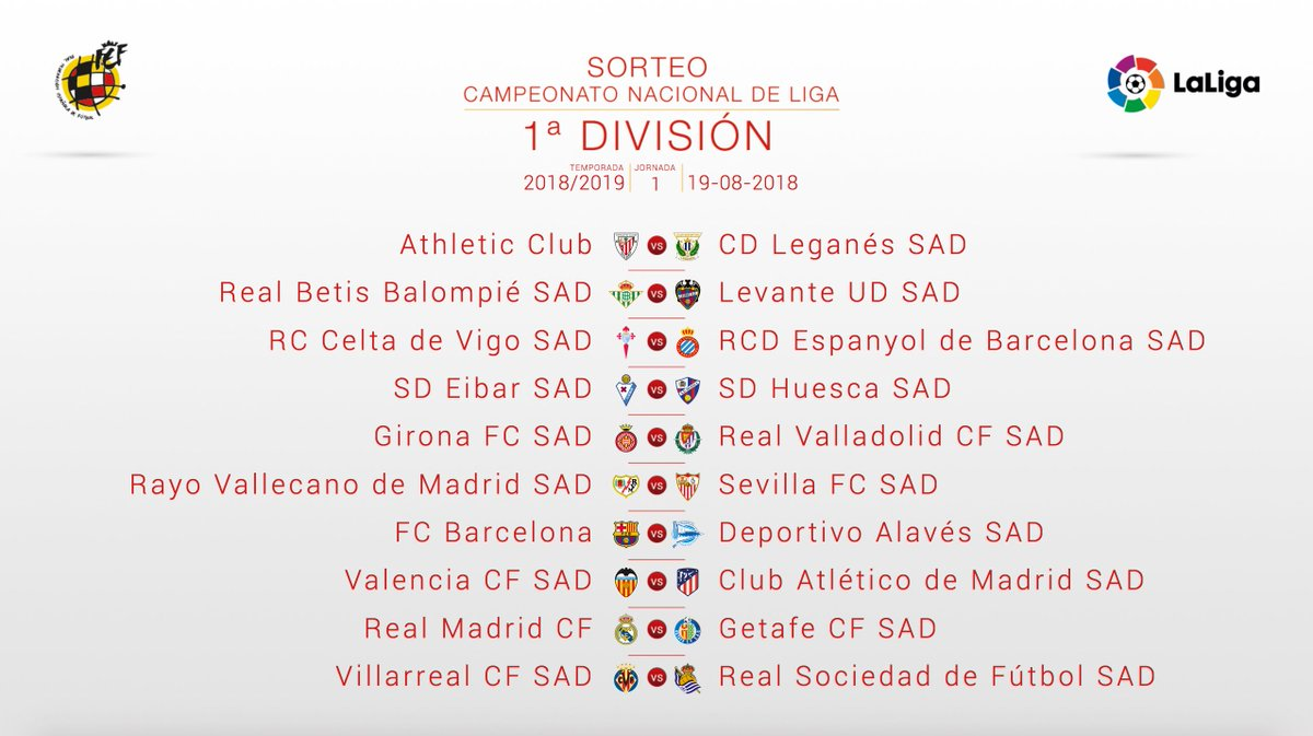 Liga Calendario.Calendario Liga Santander