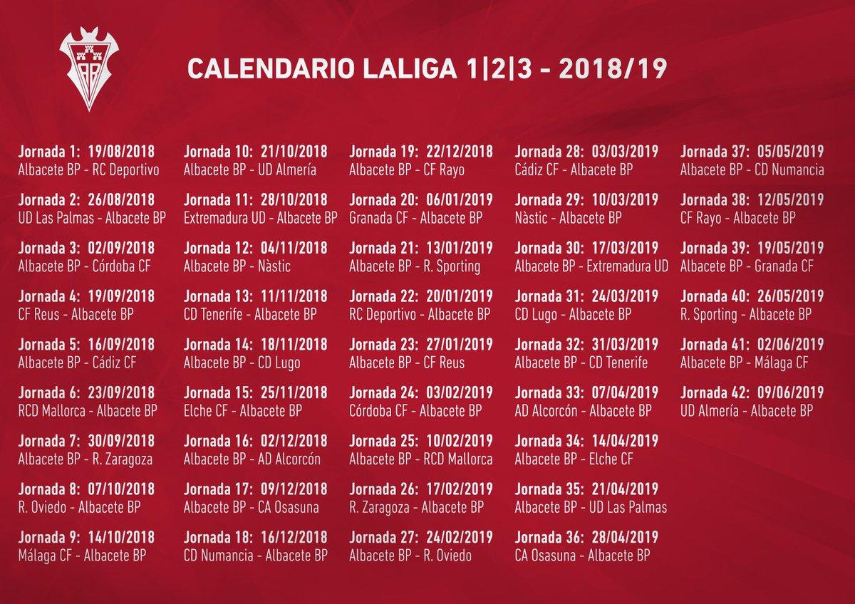 Albacete Balompie Calendario.Albacete Balompie On Twitter Calendario Aqui
