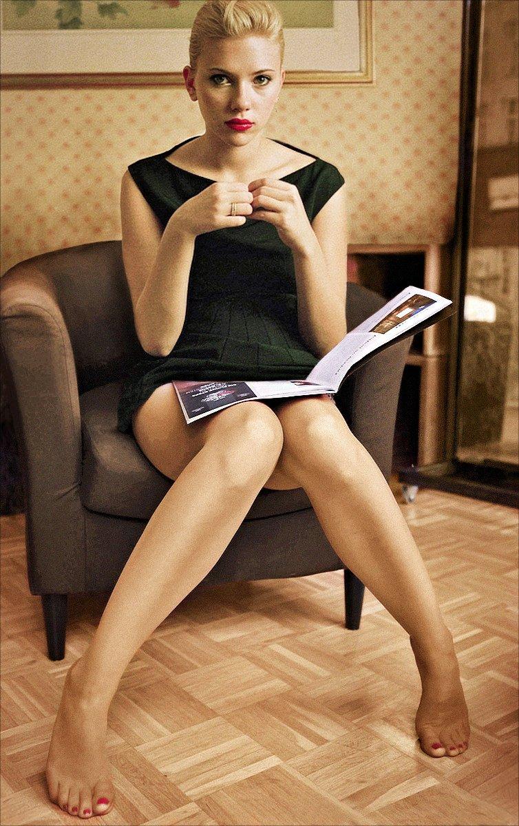 Scarlett johansson stockings