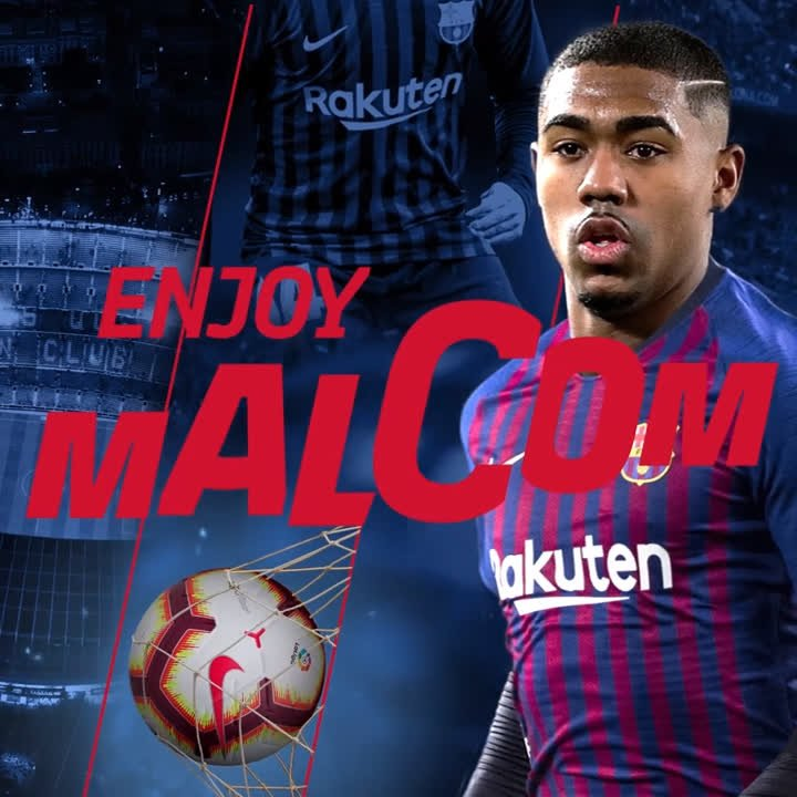 👋 🇧🇷 Bem-vindo Malcom! Welcome!  ⚽️ #EnjoyMalcom 🔵🔴 #EnjoyBarça