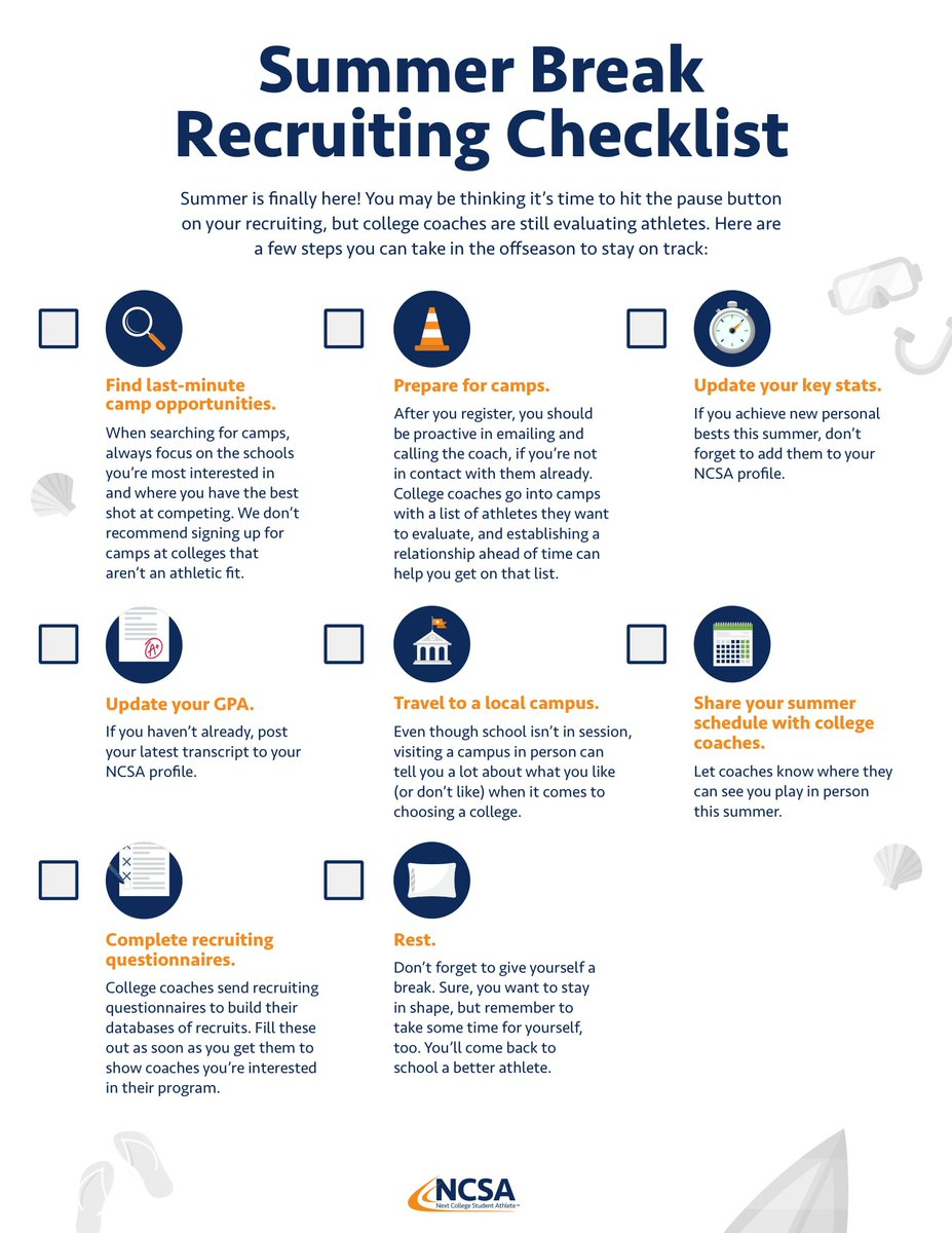 42fbba90a71 ... coaches look at  This checklist will help you out! One for sophomores  (rising juniors) and one for all other grade levels .pic.twitter.com Nxy5o7oT19