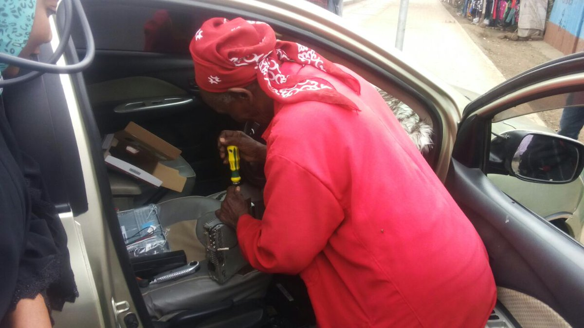 78-year-old female music technician fixing car sound systems wows many
