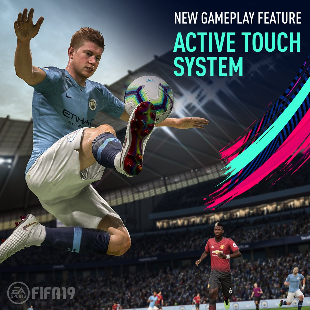 Bring the 🔥 with the new Active Touch System in #FIFA19