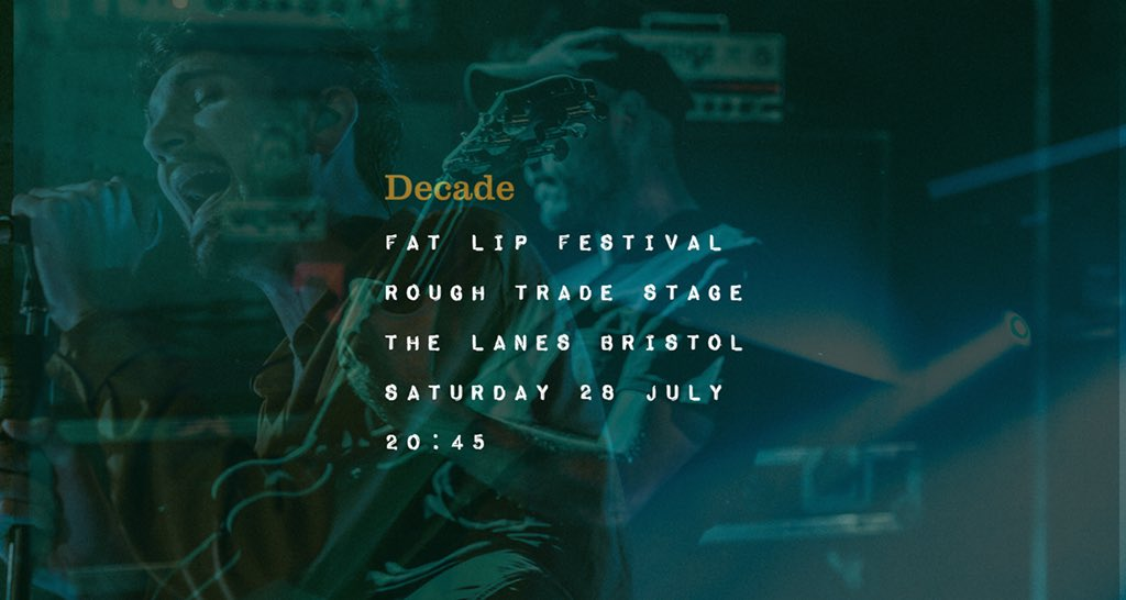 This weekend we play the @RoughTrade stage at @FatLip_UK festival in Bristol. See ya there! https://t.co/lpZPQTu7dx