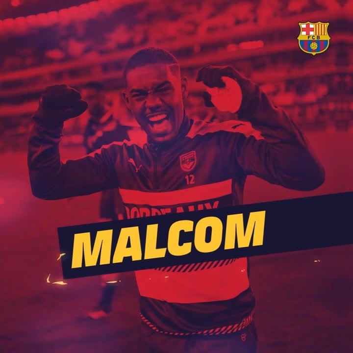 🇧🇷  Here is Malcom, Barça´s new signing  ⚽️ #EnjoyMalcom 🔵🔴 #EnjoyBarça