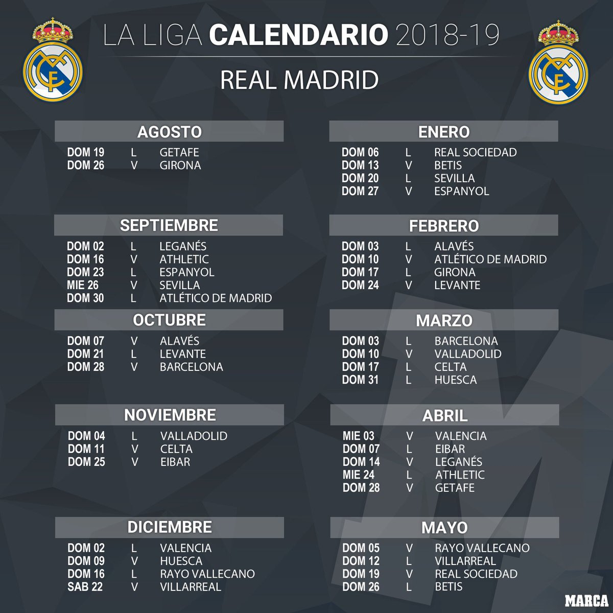 Real Madrid Schedule 2019 RMadridHome on Twitter: