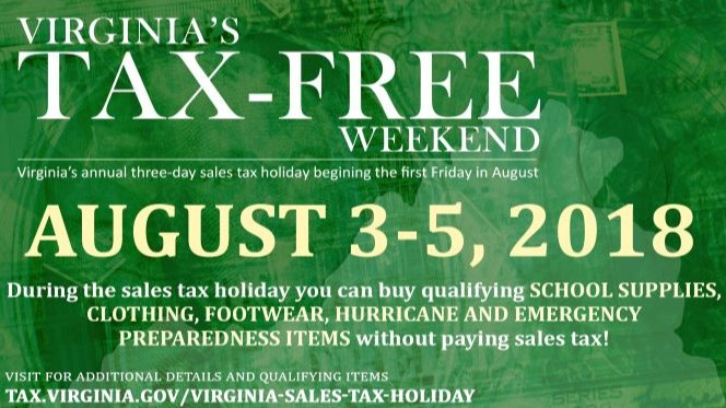 What Is The Sales Tax In Virginia >> City Of Newport News On Twitter Next Weekend Is Tax Free Weekend