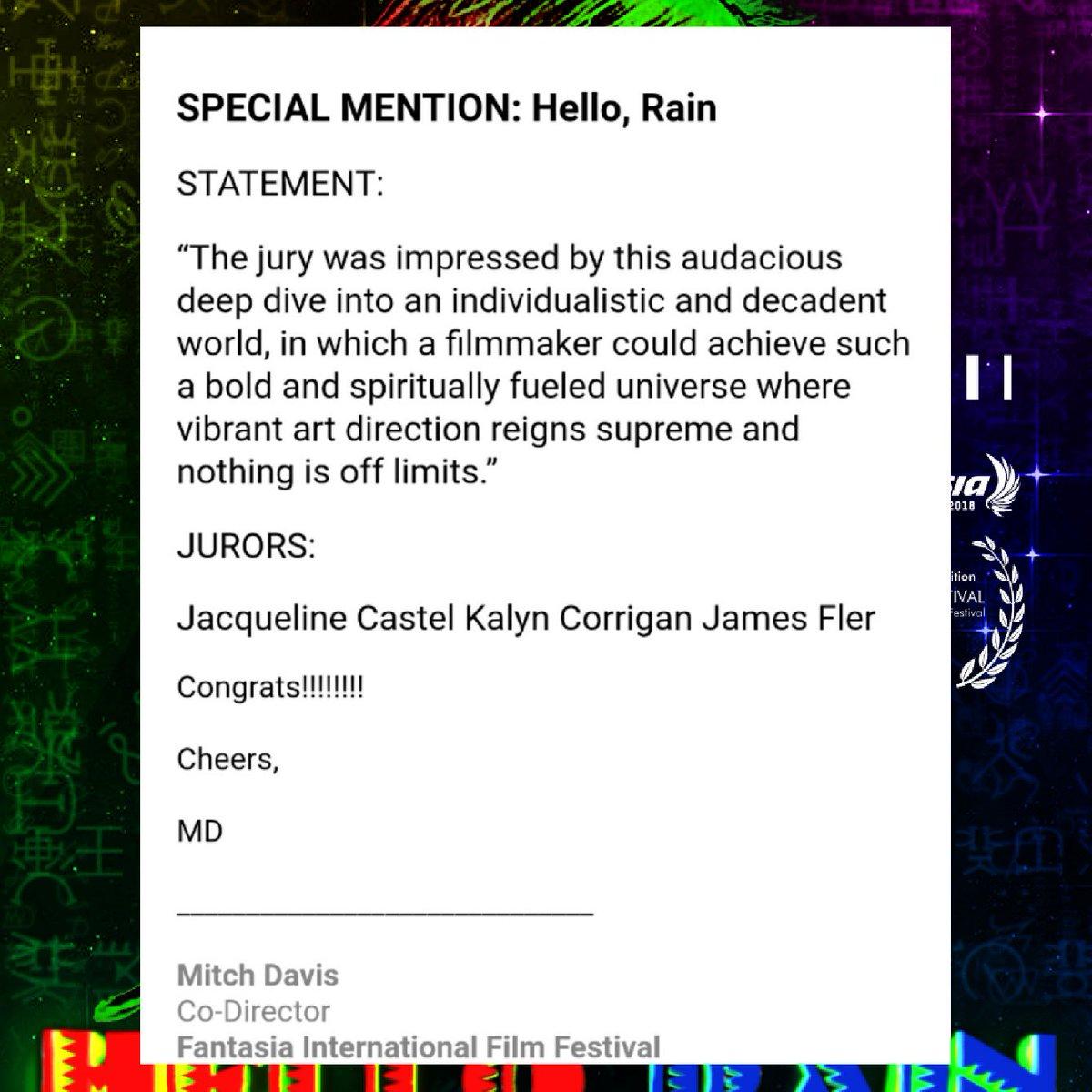 Hello, Rain on Twitter: