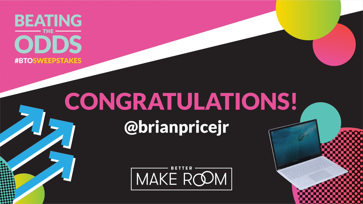 Oh, @brianpricejr? Did you want a #BTOSweepstakes laptop too? BECAUSE YOU'RE GETTING ONE! #BetterMakeRoom