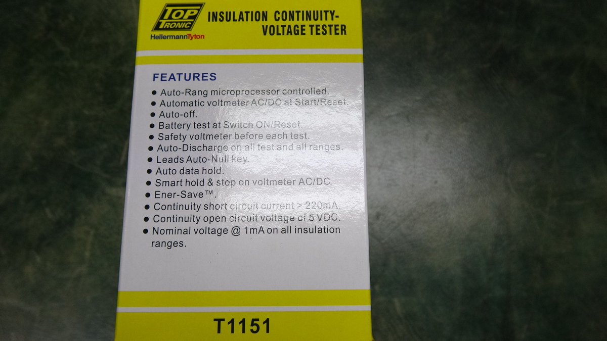 Voltmeter Hashtag On Twitter Automotive Wiring Diagram Toptronic T1151 Sans10142 Insulation Tester Continuity Pic 9w0p6ks0mq