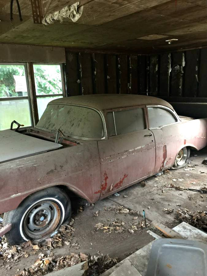 Barn Finds On Twitter Single Photo Find 1956 Chevrolet Bel Air