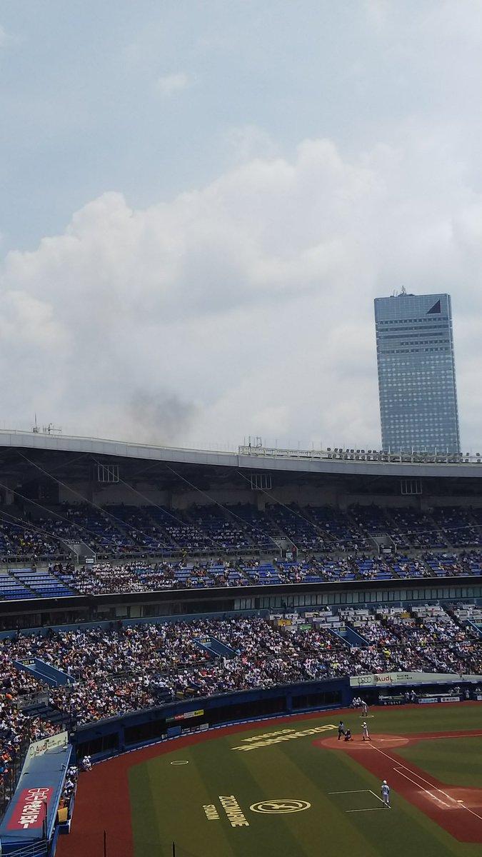美浜区ひび野で火事が起きている現場の画像