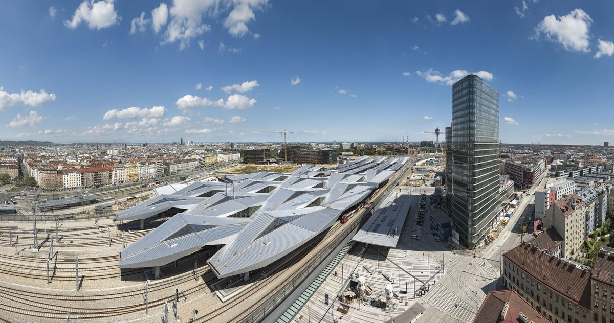 Arriving tonight late in Wien Hauptbahnhof ... Looking forward to exploring #Vienna and Austria ...  Look at that station roof too!   #goinghome <br>http://pic.twitter.com/pnL5b7az6g