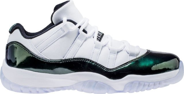 b3acab6216dc Air jordan retro 11 low emerald mens lifestyle shoe (white emerald rise  black) free shipping - scoopnest.com
