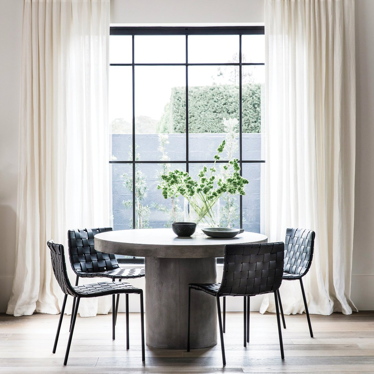 Coco Republic On Twitter With Modern Form The Regent Dining Table Impresses With A Concrete Finish Paired With The Milano Dining Chair