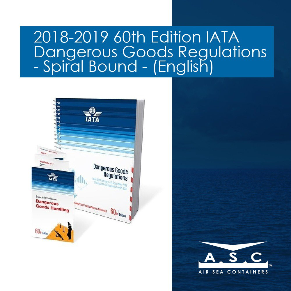 2018-2019 60th Edition #IATA DGR Manual is Available for Order! Buy Now  Save! Essential for Anyone #Shipping #DangerousGoods by Air.