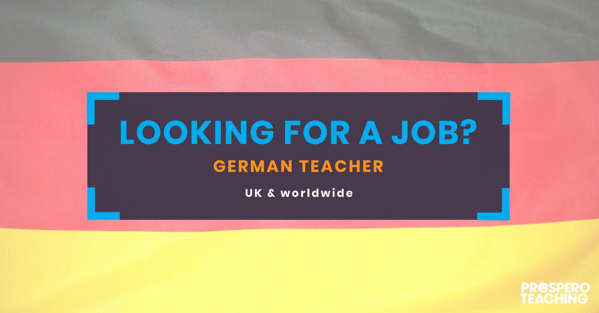 Prospero Teaching On Twitter German Teachers Needed At Various