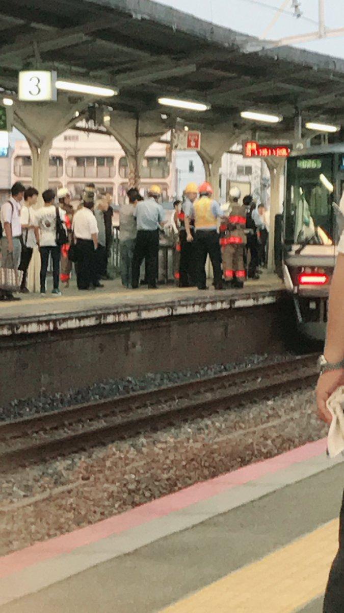甲子園口駅で人身事故の目撃者投稿の画像