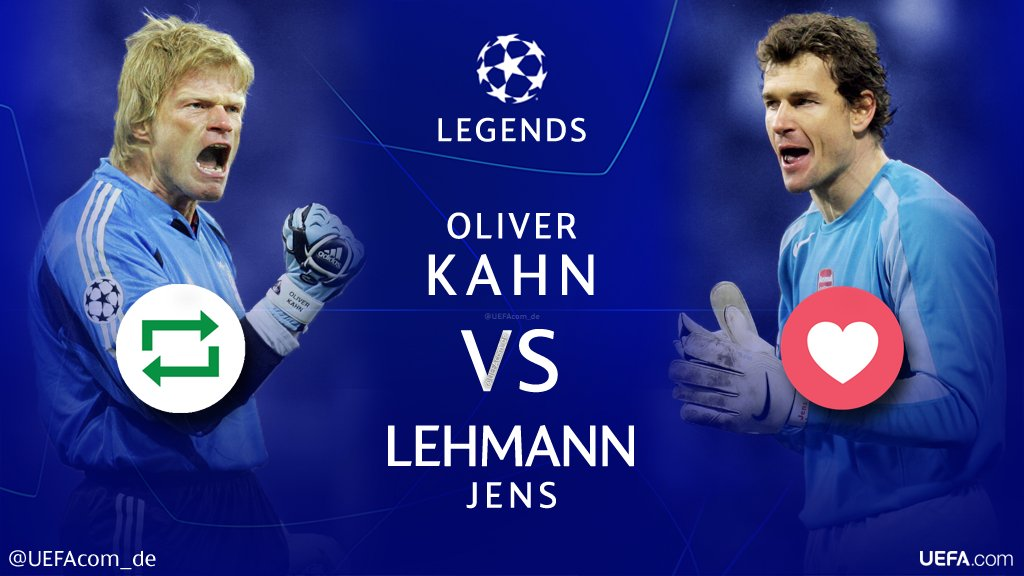 #UCL Legends 🙌🎉⚽️  🔁 = @OliverKahn 🇩🇪 ❤ = @jenslehmann 🇩🇪  #Throwback @FCBayern @BVB @Arsenal
