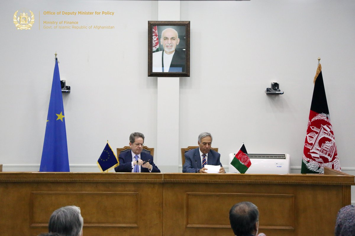 Continued Support to Reforms in Afghanistan: @EUinAfghanistan'll disburse €98 million to support Afghanistan in carrying out reforms to finalize & operationalize Afghanistan National Peace & Development Framework (ANDPF) & National Priority Programs (NPPs)...1/4 @mediaoffice_mof