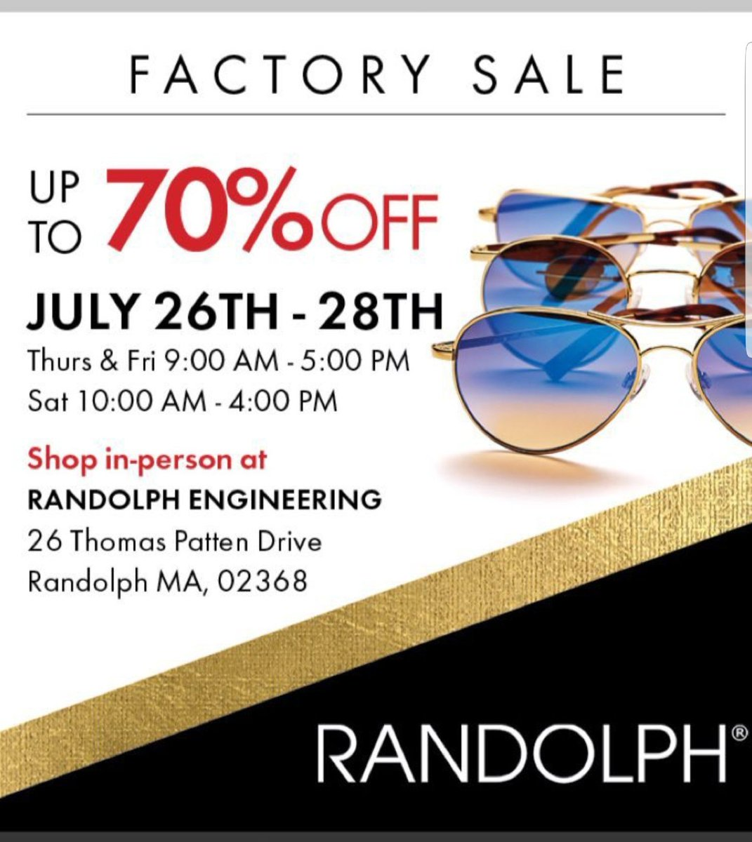 520f5b9ef6  RandolphUSA makes them in Massachusetts and gives a lifetime warranty.  Their factory sale is this weekend.....go check them out!…  https   t.co ffma2SbIoo