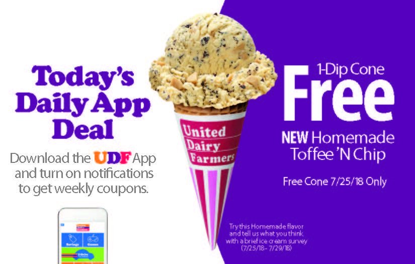 United Dairy Farmers On Twitter Todays Udf App Deal Is A Free 1