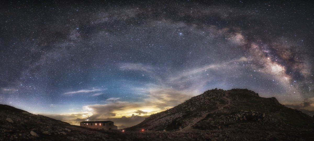 木曽駒ヶ岳と天の川