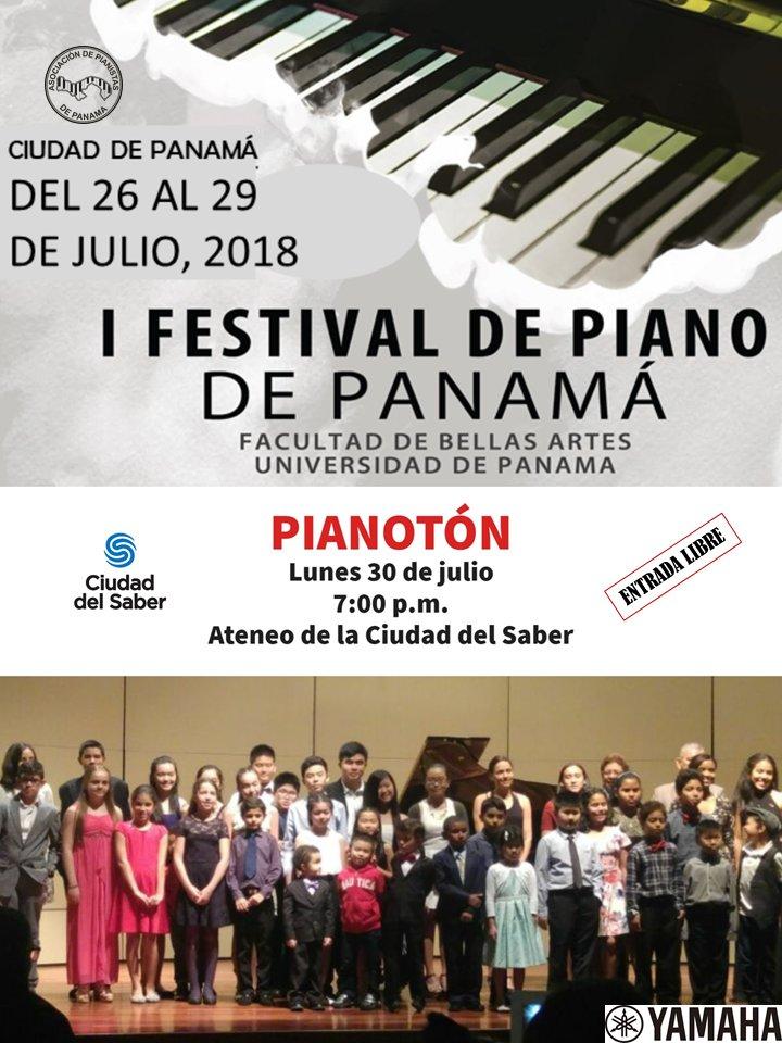 Te invitamos a celebrar la clausura del Festival de Piano de Panamá con  la PIANOTÓN, una gran maratón de pianistas que van desde los 4 años de  edad hasta jóvenes adultos #Panama #gratis
