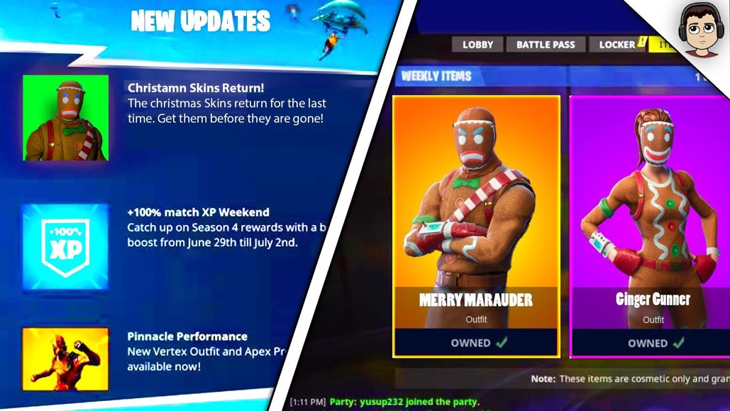 Christmas Skins.If Christmas Skins Come Out This Week Ill Gift 10 People