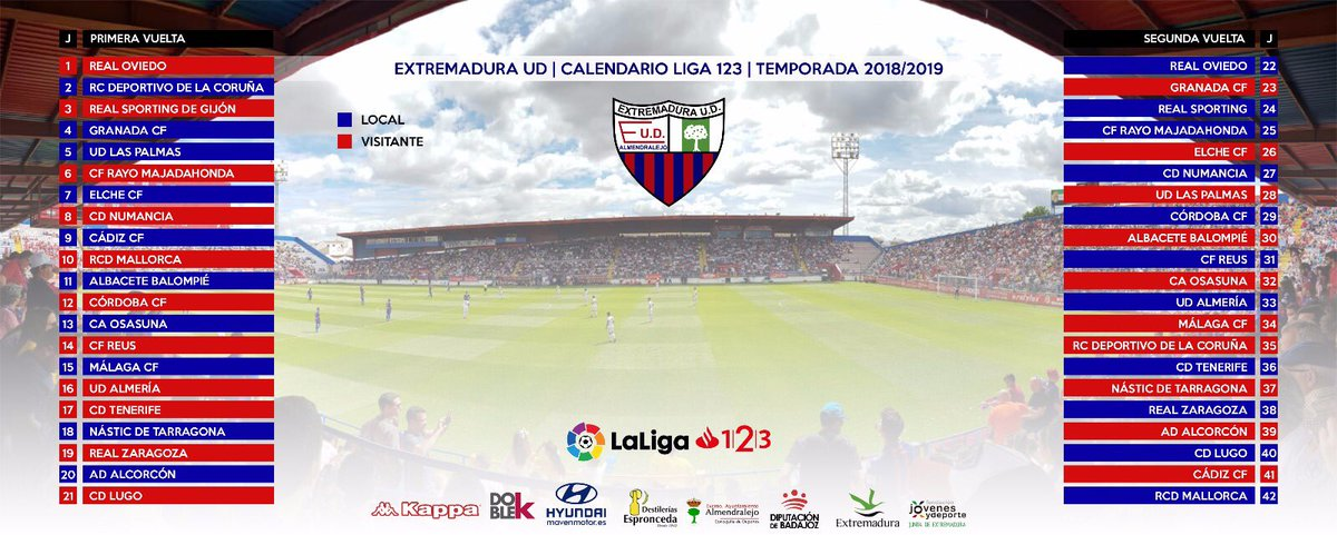 As Calendario Liga 123.Extremadura Ud V Twitter Aqui Os Dejamos Nuestro