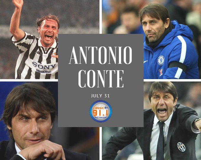 Happy birthday to  Italian professional football manager and former player, Antonio Conte