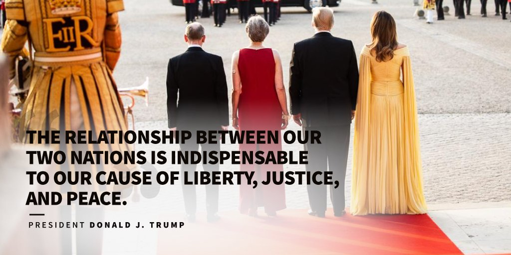 The United Kingdom and the United States are bound together by a common historic heritage, language, and heroes.