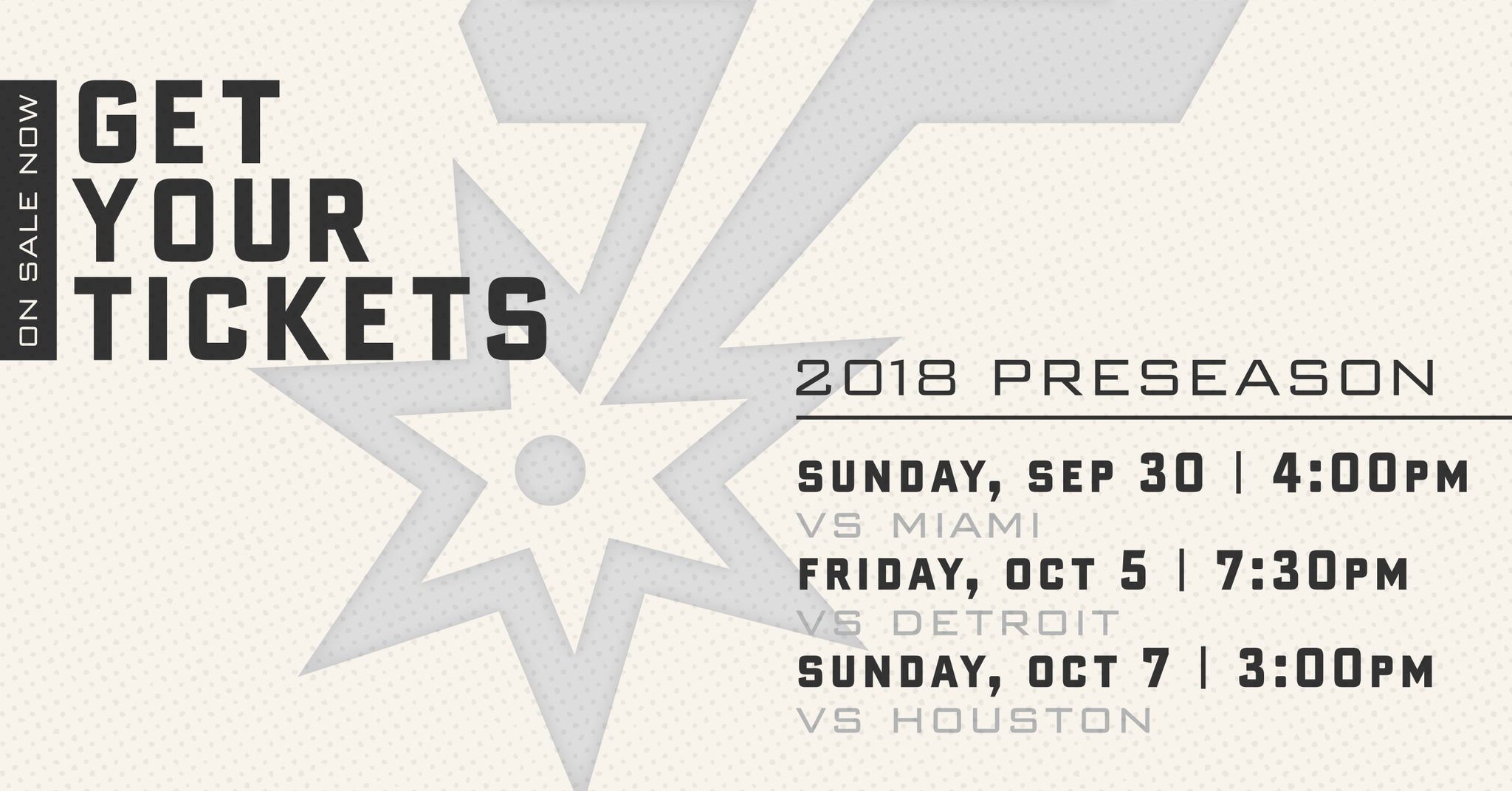 2018 Spurs Preseason Tickets are on sale now! ��   More: https://t.co/MxKpWejNtN https://t.co/Rn2Vl1LJ19