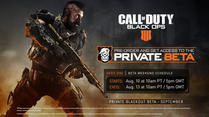 #BlackOps4 MP Beta begins August 10 on Xbox One. Get the full details on both the MP and Blackout Betas: Photo
