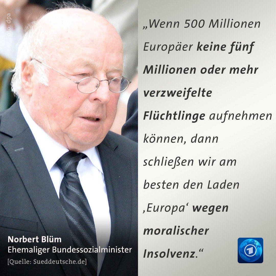 """Norbert #Blüm schreibt in einem Gastbeitrag für die """"Süddeutsche Zeitung"""" über den Umgang mit #Flüchtlingen."""