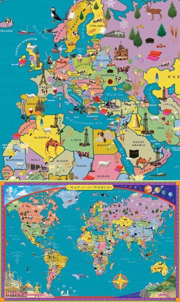 Onlmaps on twitter world map educational poster art httpst 215 pm 13 jul 2018 gumiabroncs Images