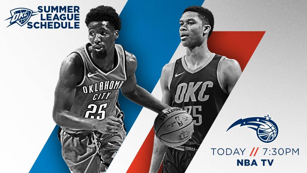 Thunder v. Magic tonight! Tune in at 7:30pm CT on NBA TV. #ThunderUp // #NBASummer