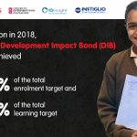 Image for the Tweet beginning: The #EducateGirlsDIB delivered impressive results,