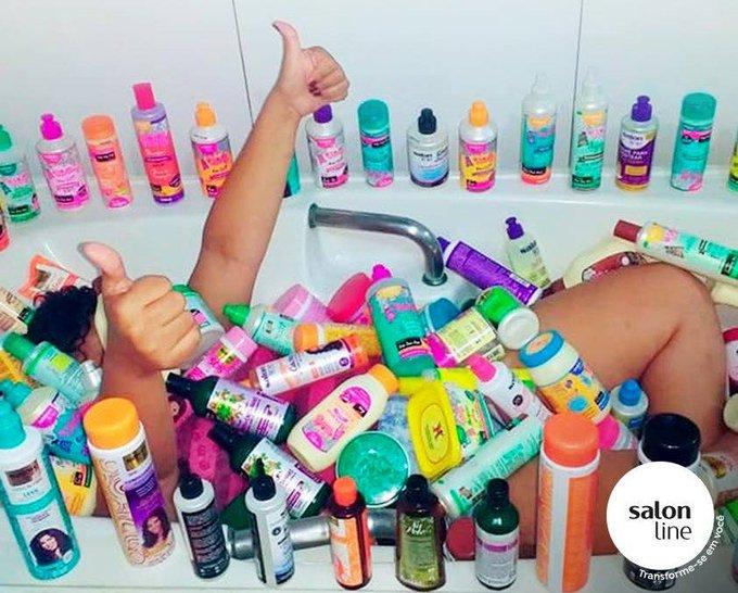 #MeuFeticheÉ uma banheira CHEEEEEIA de produtinhos da Salon Line! 🤤😍 Foto