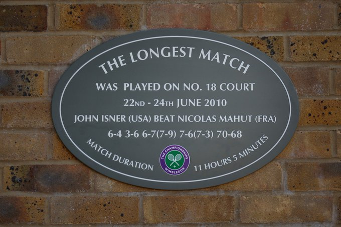 14-14. Of course, this is a stroll in the park for John #Wimbledon Photo